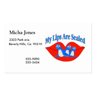 My Lips Are Sealed Business Cards