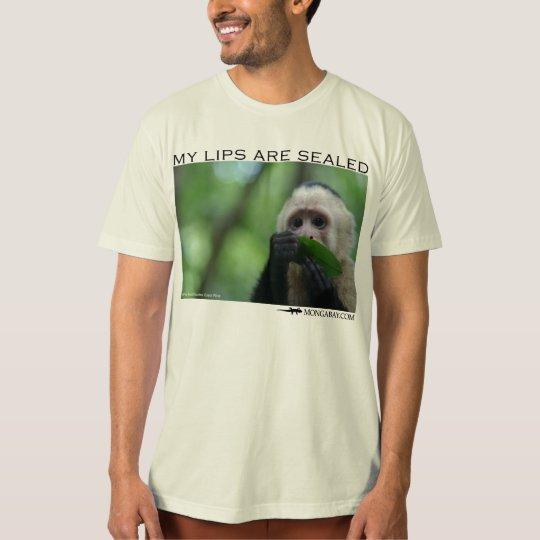 my lips are sealed-capuchin monkey shirt