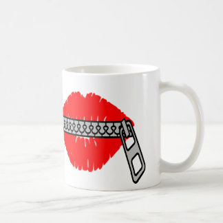 My lips are sealed coffee mug