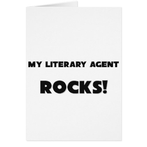 MY Literary Agent ROCKS! Greeting Card
