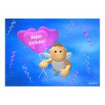 My Little Angel: Birthday Angel 2 5x7 Paper Invitation Card