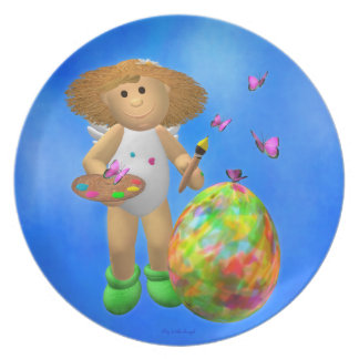 My Little Angel: Colorful Easter Egg Dinner Plates