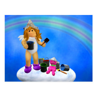 My Little Angel: Colorful Summertime Postcard