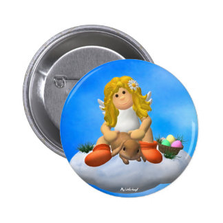 My Little Angel: Easter Time 11 Pinback Buttons