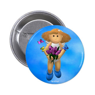 My Little Angel: Easter Time 12 Pinback Buttons