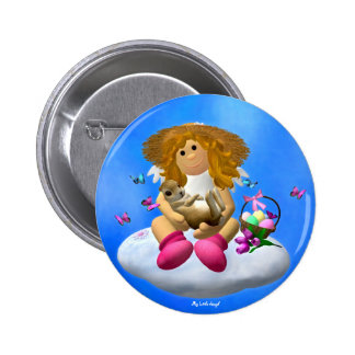 My Little Angel: Easter Time 1 Pinback Button