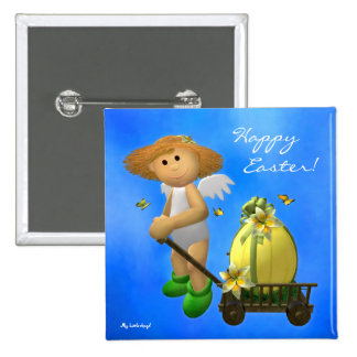 My Little Angel: Easter Time 4 Pinback Button