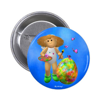 My Little Angel: Easter Time 5 Pinback Buttons