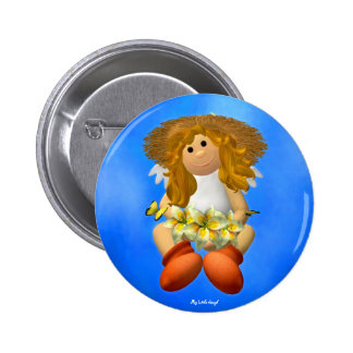 My Little Angel: Easter Time 8 Pinback Buttons