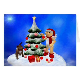 My Little Angel: Enchanting Christmas Greeting Card