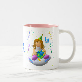 My Little Angel: First Birthday Two-Tone Coffee Mug