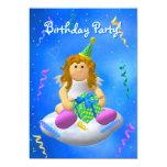 My Little Angel: Happy Birthday 5x7 Paper Invitation Card