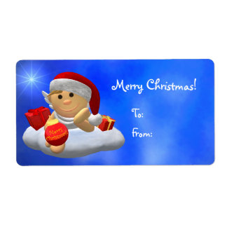 My Little Angel: Merry Christmas Shipping Label