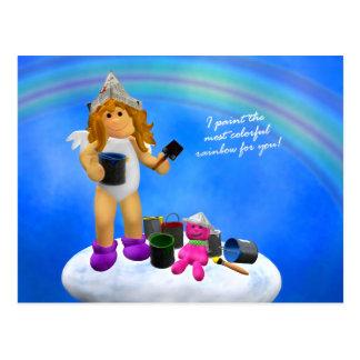 My Little Angel: Rainbow Postcard