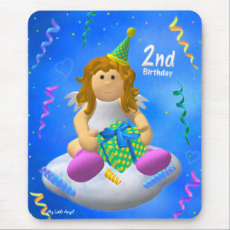 My Little Angel: Second Birthday Mouse Pad
