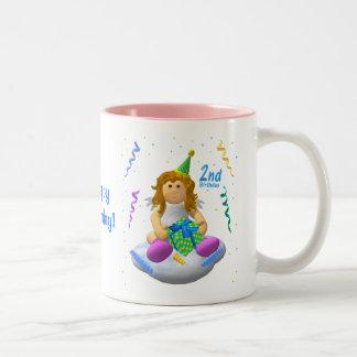My Little Angel: Second Birthday Two-Tone Coffee Mug