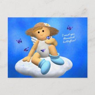 My Little Angel: Spring Greetings postcard