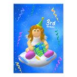My Little Angel Third Birthday 5x7 Paper Invitation Card