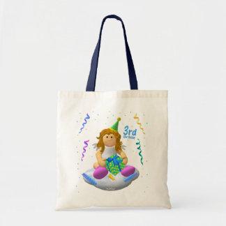 My Little Angel Third Birthday Tote Bag