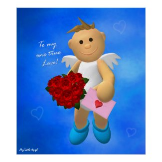My Little Angel Valentine poster 3 print