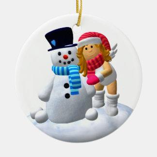 My Little Angel: Wintertime Ceramic Ornament
