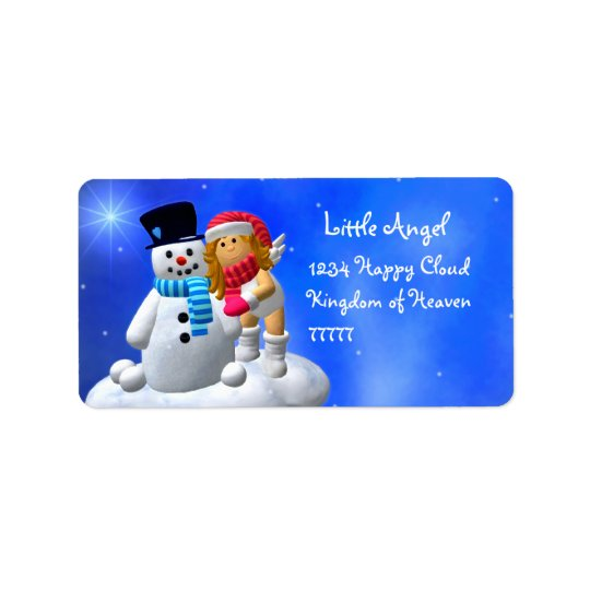 My Little Angel: Wintertime Labels