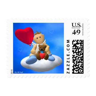 My Little Angel with Balloon Teddy Postage