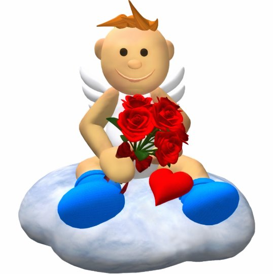 My Little Angel with Roses & Heart Statuette
