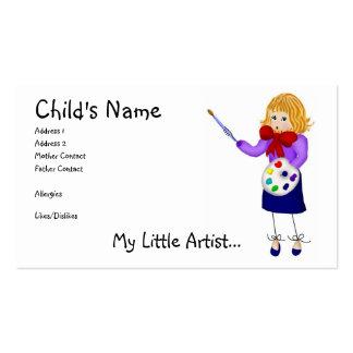 My Little Artist Mommy Calling Card