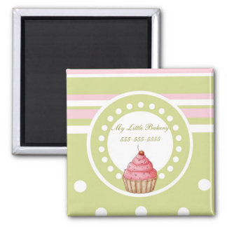 My Little Bakery - Green & Pink Magnet