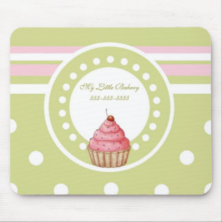 My Little Bakery - Green & Pink Mouse Pad
