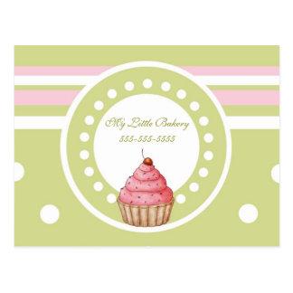 My Little Bakery - Green & Pink Postcard