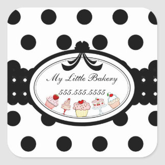 My Little Bakery - Ribbon Square Sticker