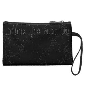 My Little Black Pocket Book Suede Wristlet Wallet