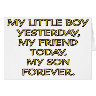 MY LITTLE BOY CARD
