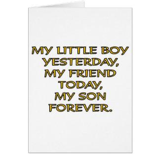 MY LITTLE BOY GREETING CARD