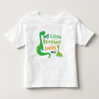My Little Brother Loves Me Dinosaur Toddler T-shirt