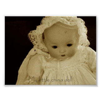 My little china doll print