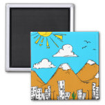 My Little City 2 Inch Square Magnet