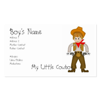 My Little Cowboy Mommy Cards Double-Sided Standard Business Cards (Pack Of 100)