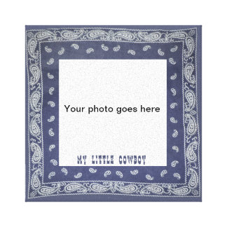 My Little Cowboy Photo Canvas Gallery Wrapped Canvas