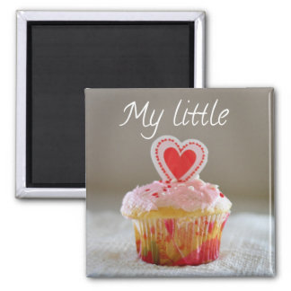 My Little Cupcake Heart Cupcake Romantic Refrigerator Magnets
