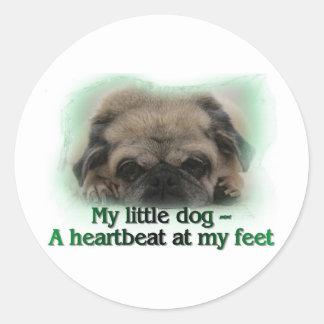 My Little Dog Round Sticker