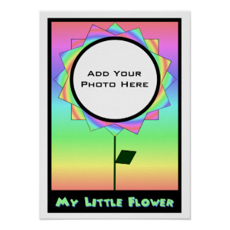 My Little Flower Photo Template 2 Poster