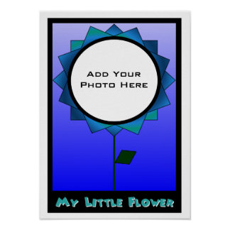 My Little Flower Photo Template 3 Poster