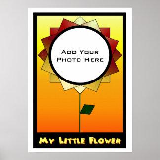 My Little Flower Photo Template Print