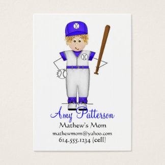 My Little Future Baseball Player Mommy Cards
