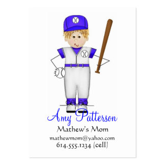 My Little Future Baseball Player Mommy Cards Business Card