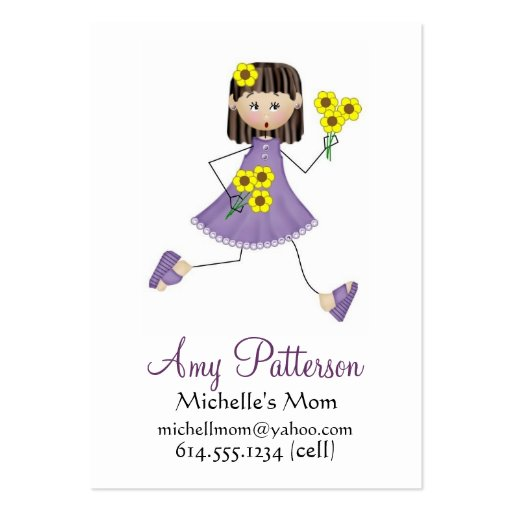 My Little Girl Mommy Cards Large Business Cards (Pack Of 100)