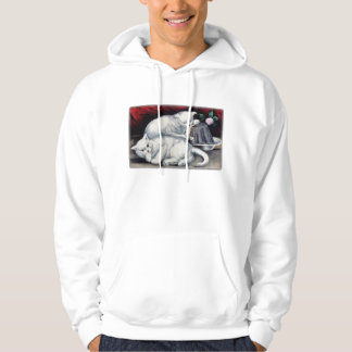 My little kittie takes the cake white kittens hoodie